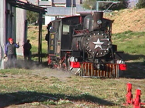 Steam Engine train in Patagonia