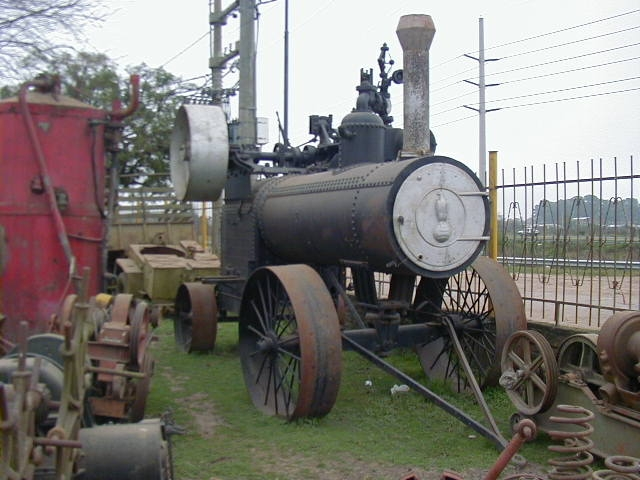 an old steam tractor Case from Argentina