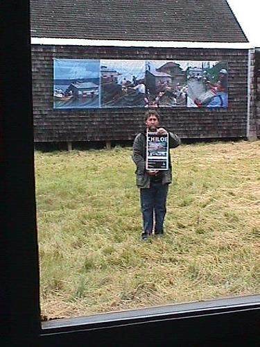 Bob Frassinetti at the Moderen Art Museum in Chiloe, Chile