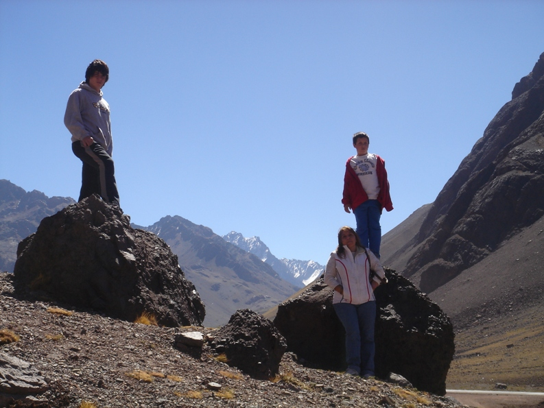 hanging out at the top of the andes