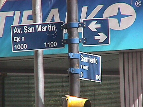 """The oloriginal """"O"""" kilometer of Route 40 for both South and North, as you see it today, CitiBank is always near you ..."""