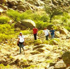 Places for trekking, camping or hunting