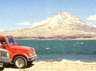 Laguna del Diamante and Volcano Maipo
