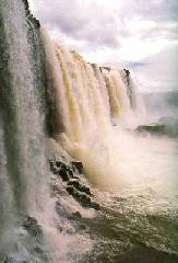 A view of the Iguazu falls - Salto San Martin