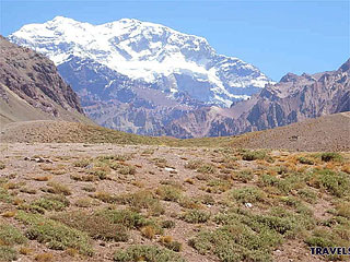 Aconcagua in Cordillera de los Andes - The Andes ridge